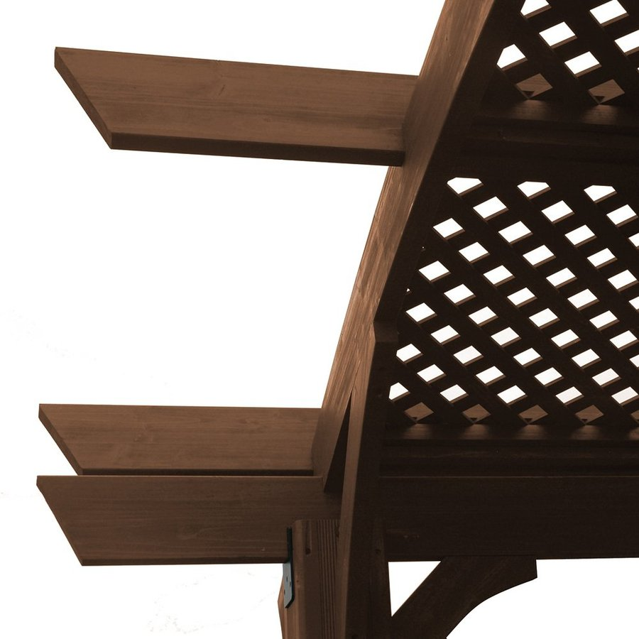 Outdoor Greatroom Company Sonoma Mocha Pergola Lattice Roof