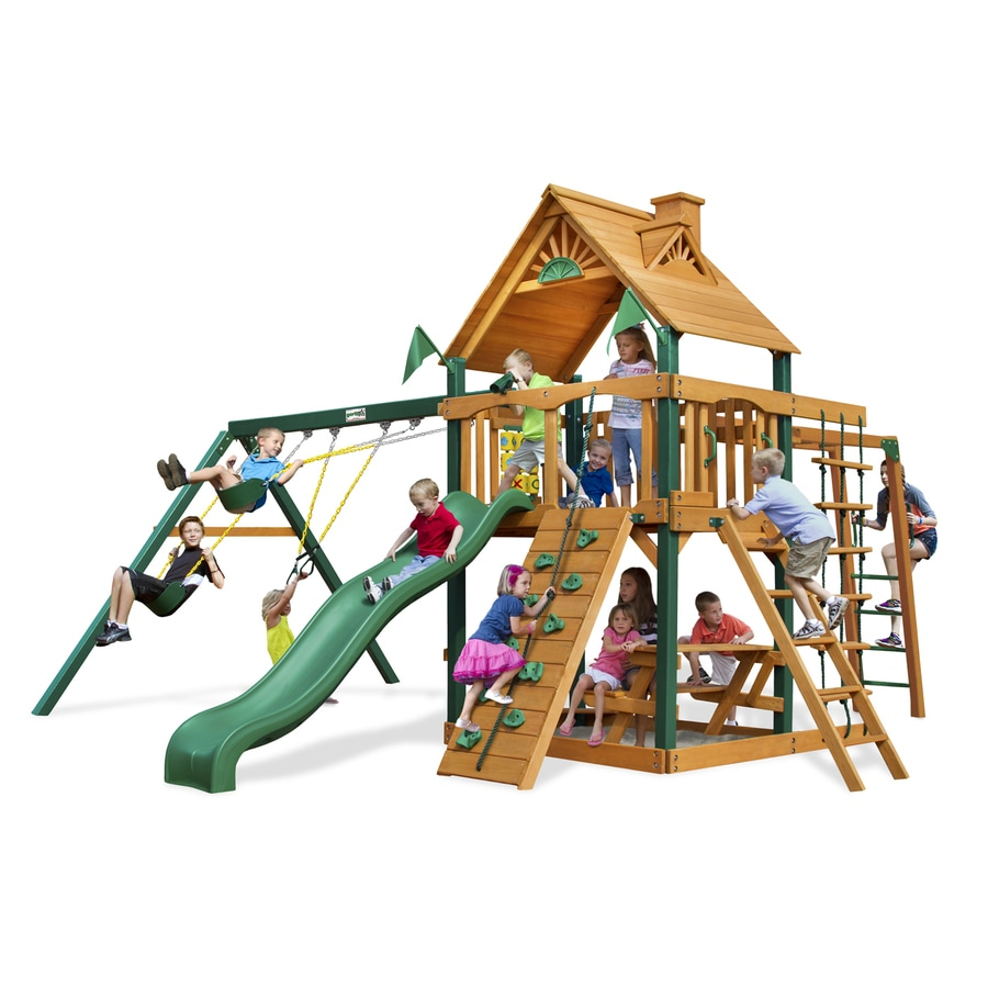 Shop gorilla playsets navigator residential wood playset for Gorilla playsets