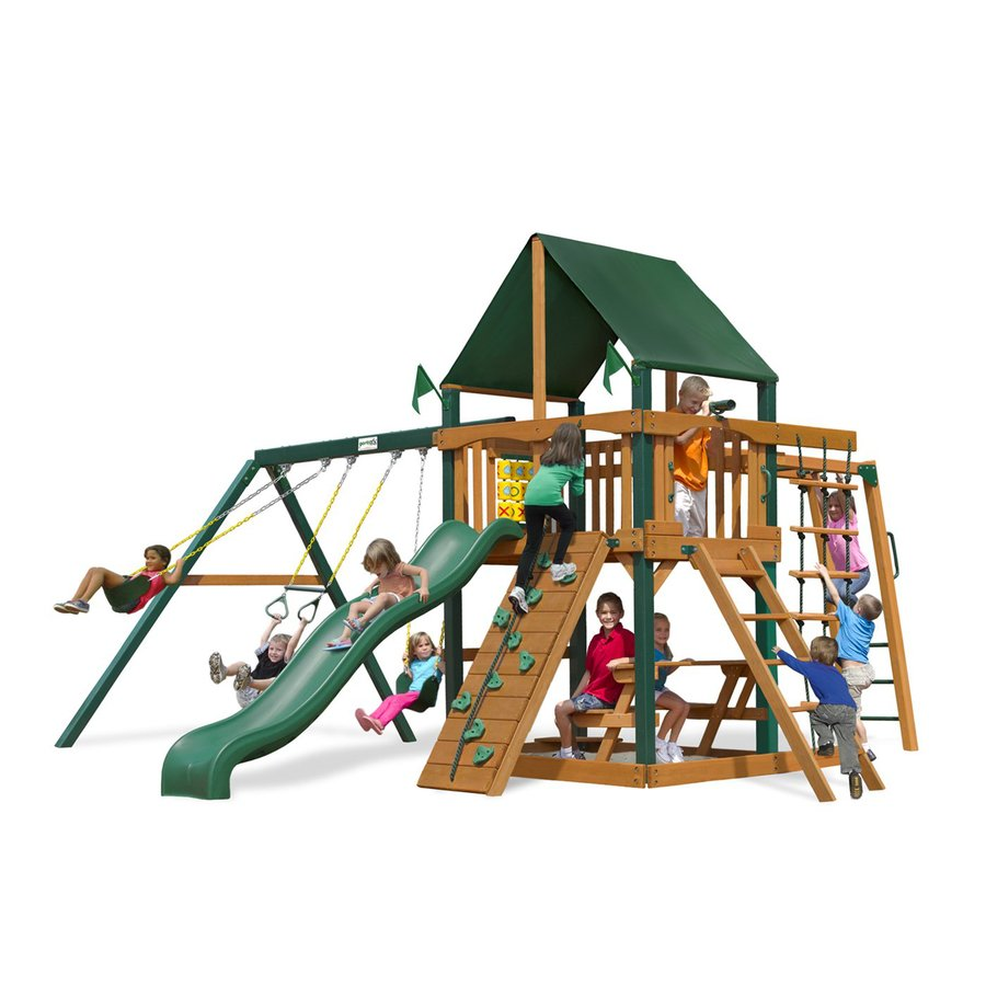Gorilla Playsets Navigator Supreme CG Residential Wood Playset with Swings