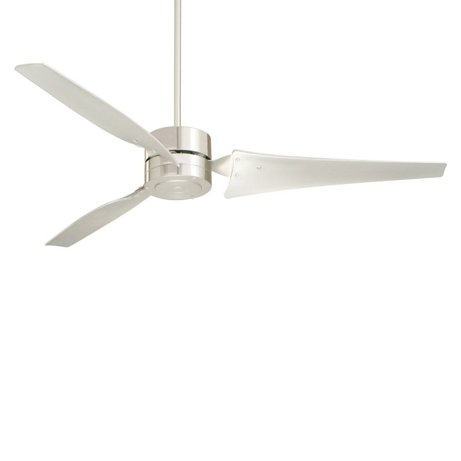 Cascadia 60-in Brushed Steel Downrod Mount Indoor Ceiling Fan (3-Blade)