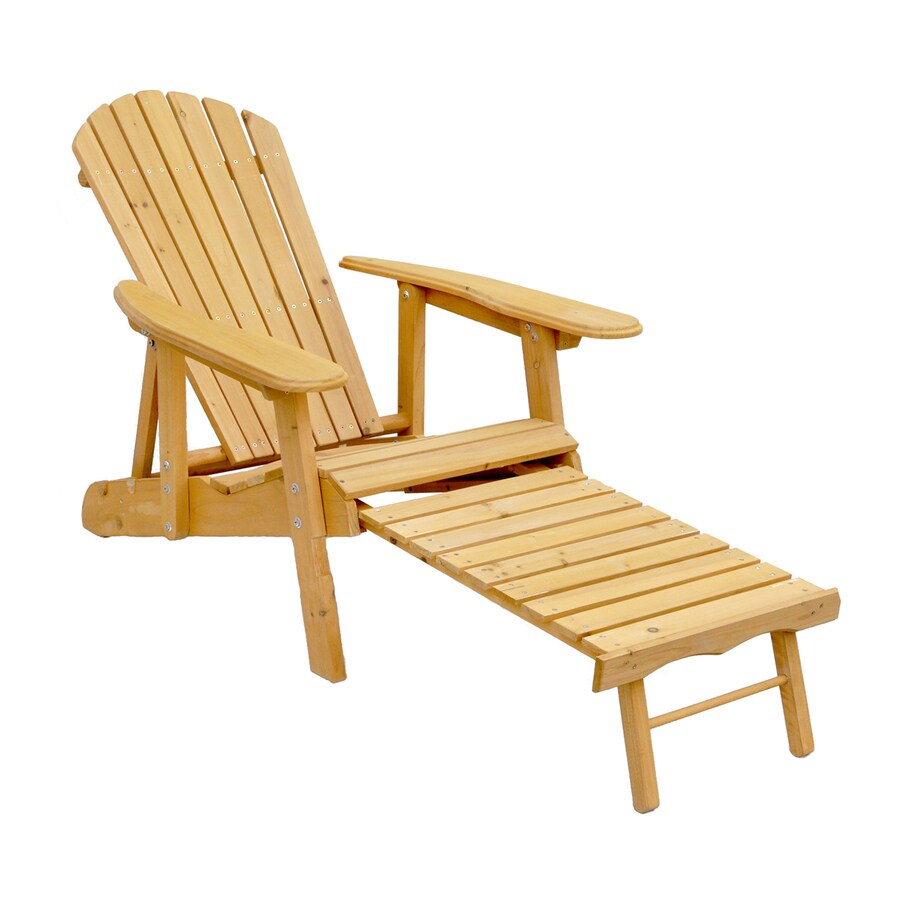Leisure Season Natural Cunninghamia Folding Patio Adirondack Chair