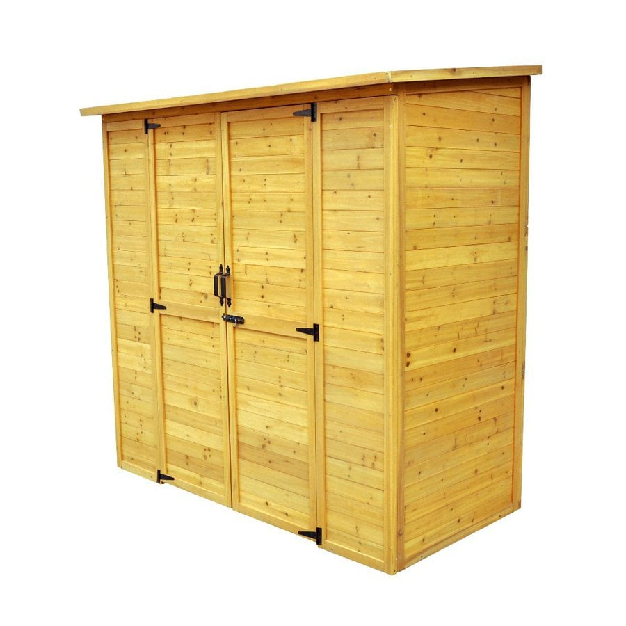 Leisure Season (Common: 6-ft x 3-ft; Interior Dimensions: 5.92-ft x 2.83-ft) Lean-to Cedar Wood Storage Shed (Installation Not Included)