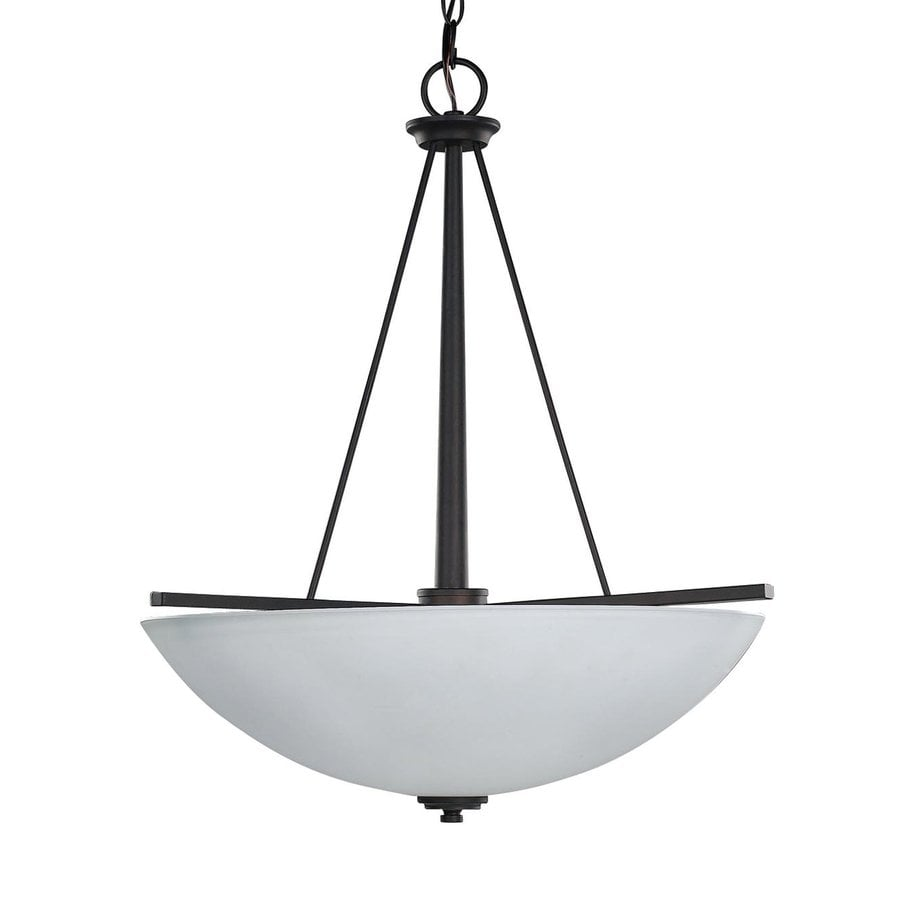 Canarm New Yorker 18-in Oil Rubbed Bronze Craftsman Single Bowl Pendant
