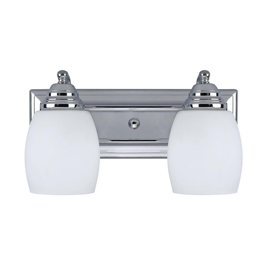 Canarm Griffin 2-Light Chrome Bell Vanity Light