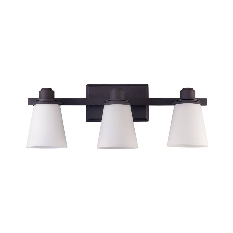 Canarm Chatham 3-Light 8.25-in Oil Rubbed Bronze Bell Vanity Light