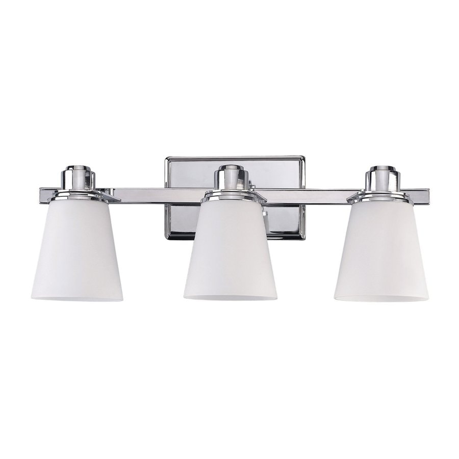 Shop Canarm Chatham 3 Light 22 In Chrome Bell Vanity Light At
