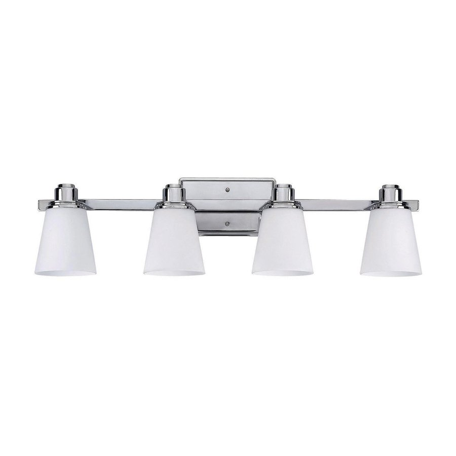 Canarm Chatham 4-Light 8.25-in Chrome Bell Vanity Light