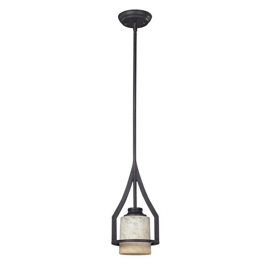 oil rubbed bronze pendant lights. Canarm Warren 6.5-in Oil Rubbed Bronze Craftsman Mini Cylinder Pendant Lights N