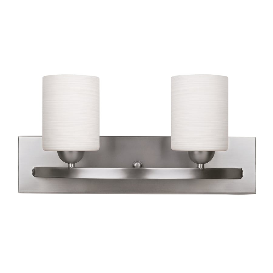 Canarm Hampton 2-Light 8.5-in Brushed Pewter Cylinder Vanity Light