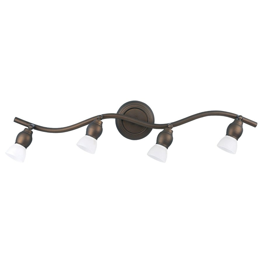 Canarm Lexington 4-Light 29-in Oil-Rubbed Bronze Flexible Track Light with Glass