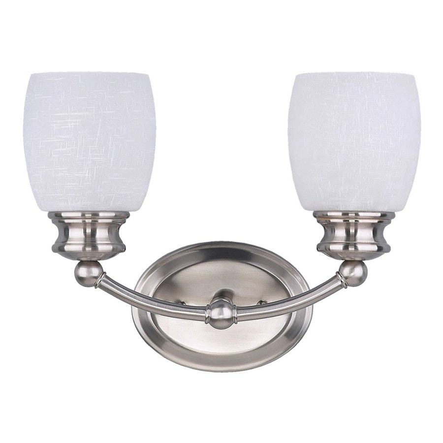 Canarm Palms 2-Light 10.5-in Brushed Pewter Bell Vanity Light
