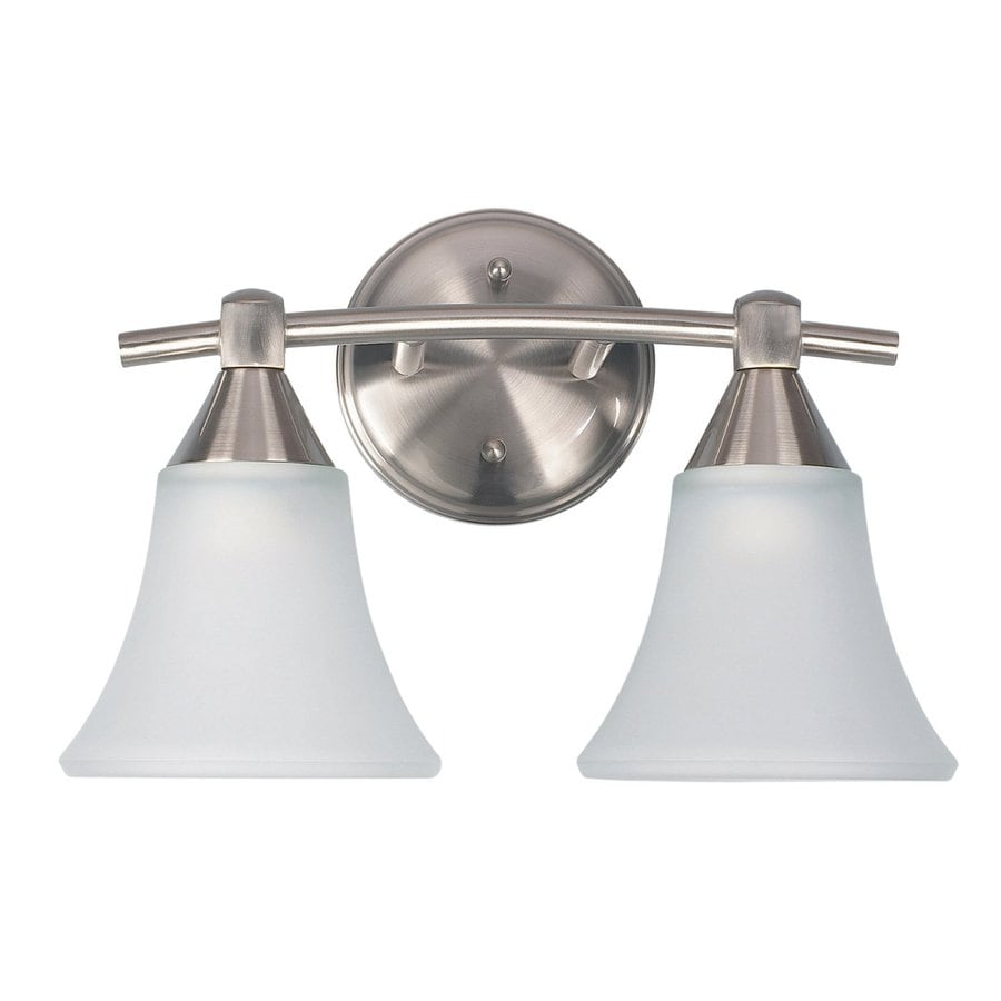 Canarm Grace 2-Light 9-in Brushed Pewter Bell Vanity Light