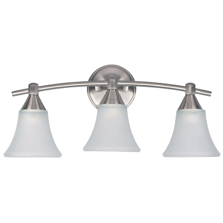 Canarm Grace 3-Light 9-in Brushed pewter Bell Vanity Light