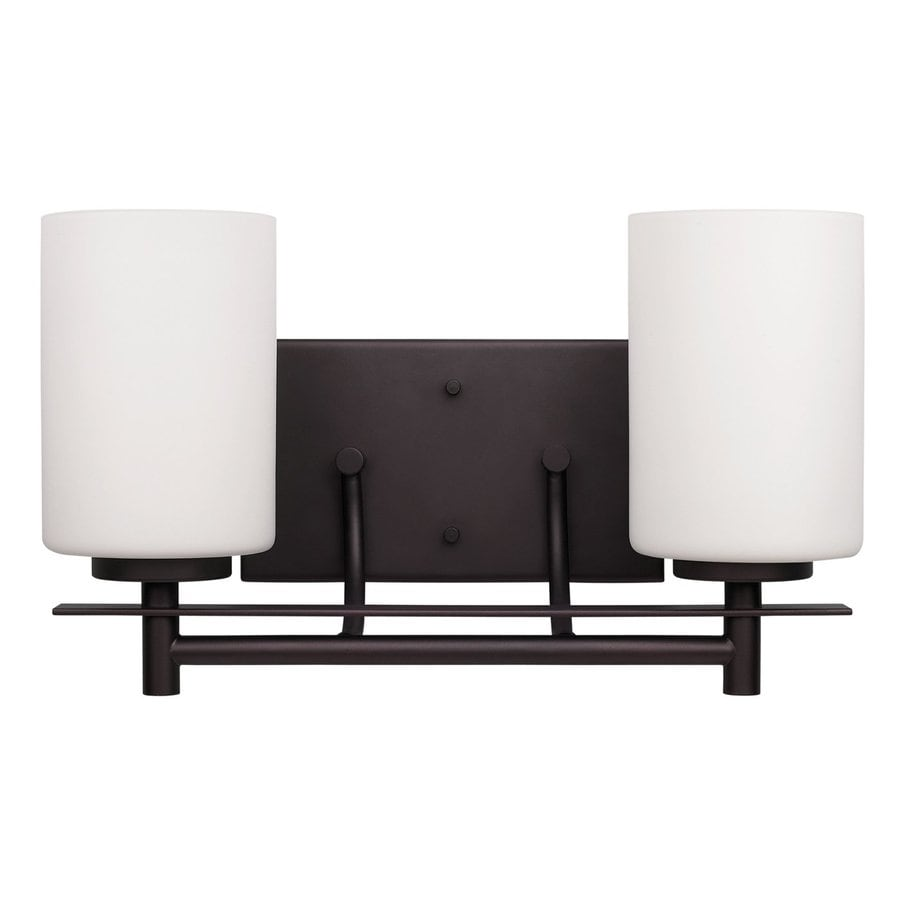 Shop Canarm Carlton 2-Light 8.25-in Oil rubbed bronze Cylinder Vanity Light at Lowes.com