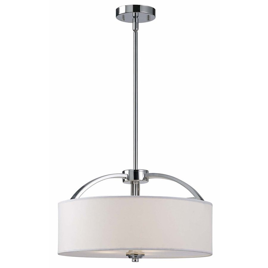 Canarm Milano 16.25-in Chrome Single Drum Pendant