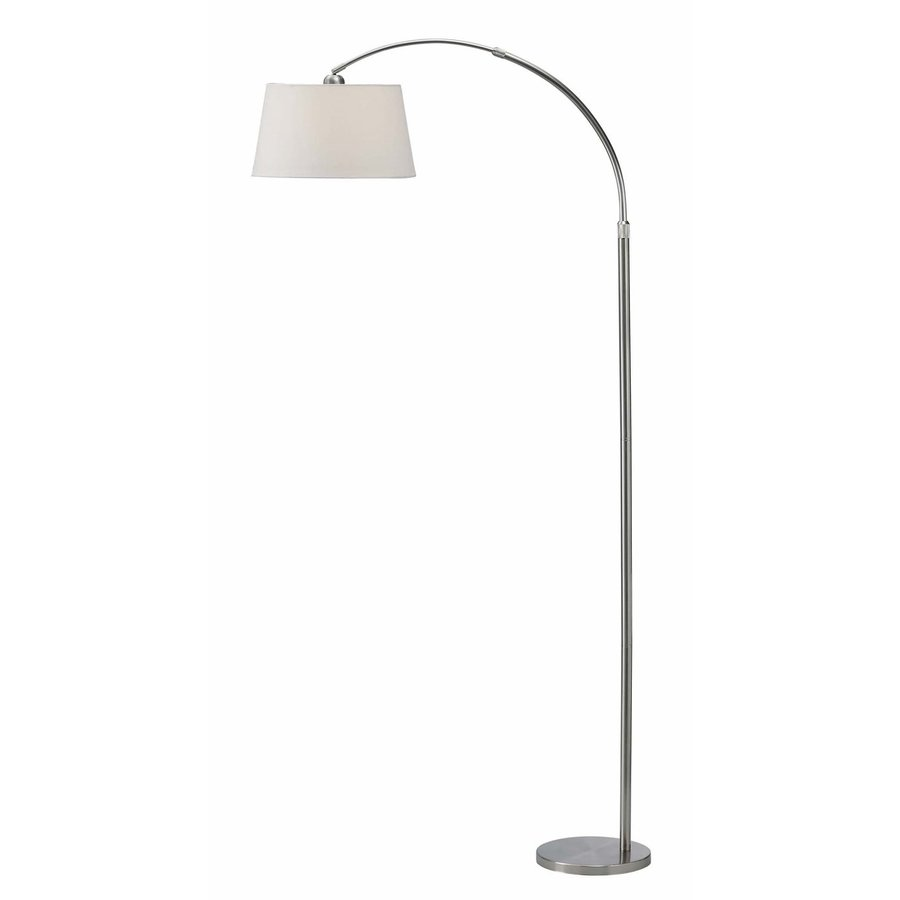 Canarm 82-in Chrome 3-Way Downbridge Floor Lamp with Fabric Shade