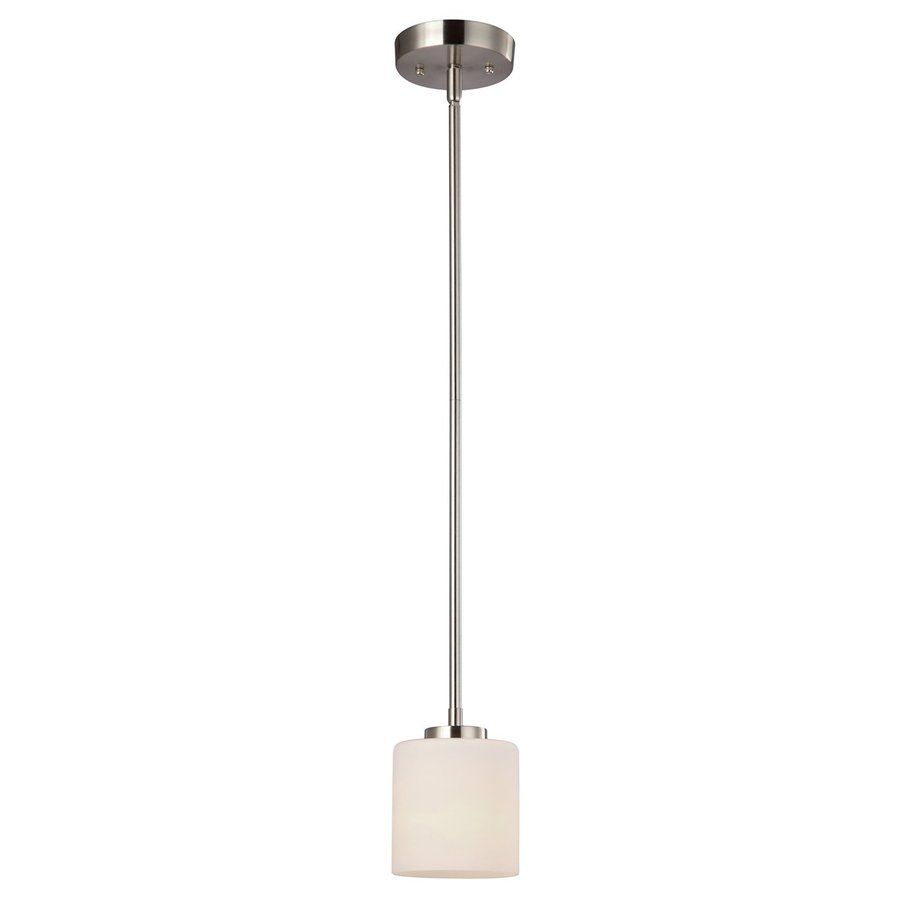 Canarm Leigha 4.75-in Brushed Nickel Mini Cylinder Pendant