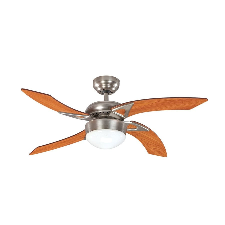 Ceiling Fan 42 High Quality With Light: Shop Canarm Oceanbreeze 42-in Brushed Pewter Downrod Mount