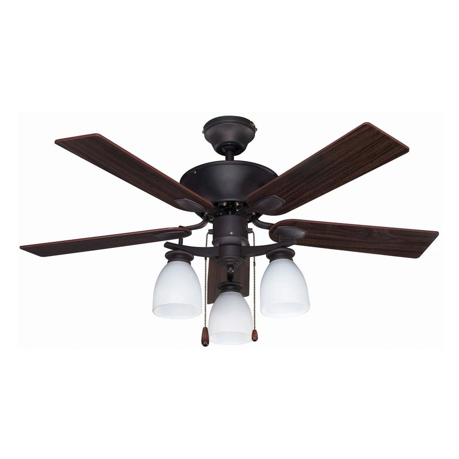 Canarm New Yorker 42-in Oil Rubbed Bronze Downrod Mount Indoor Ceiling Fan with Light Kit (5-Blade)