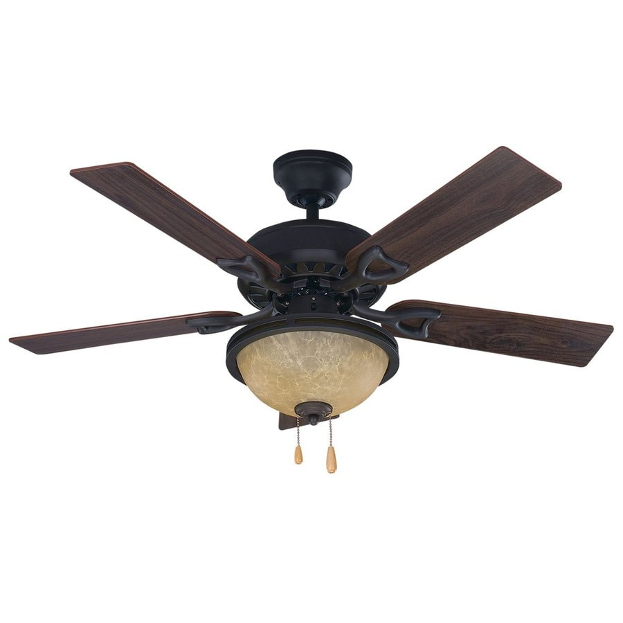 Canarm 42-in Oil Rubbed Bronze Downrod Mount Indoor Ceiling Fan with Light Kit (5-Blade)