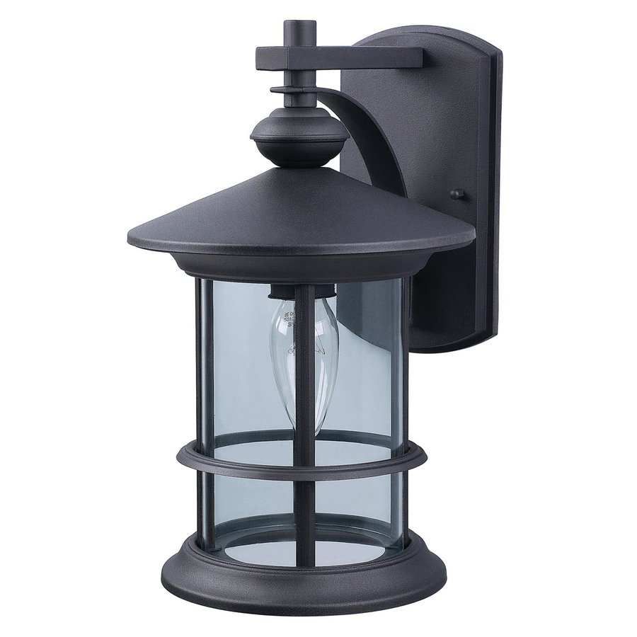 Canarm Treehouse 13-in H Black Outdoor Wall Light