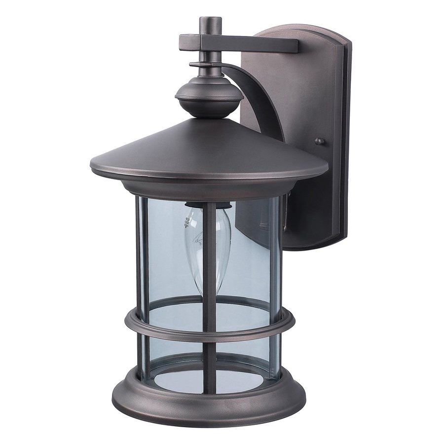 Shop Canarm Treehouse 13 In H Oil Rubbed Bronze Outdoor Wall Light At