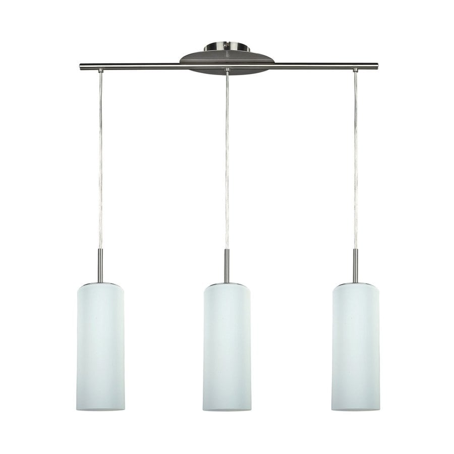 Canarm Toni 6-in W 3-Light Pewter Kitchen Island Light with Frosted Shade