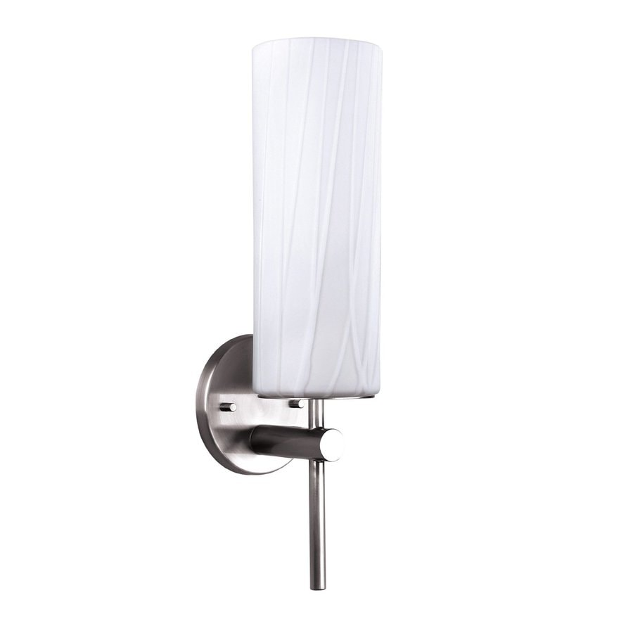 Canarm Helena 4.5-in W 1-Light Brushed Pewter Arm Hardwired Wall Sconce