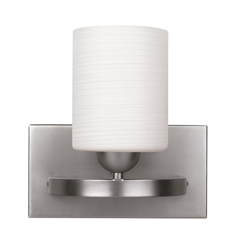 Canarm Hampton 8.25-in W 1-Light Brushed Pewter Arm Hardwired Wall Sconce