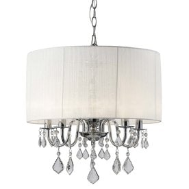 Shop chandeliers at lowes canarm sarah 18 in 5 light chrome crystal drum chandelier aloadofball Choice Image