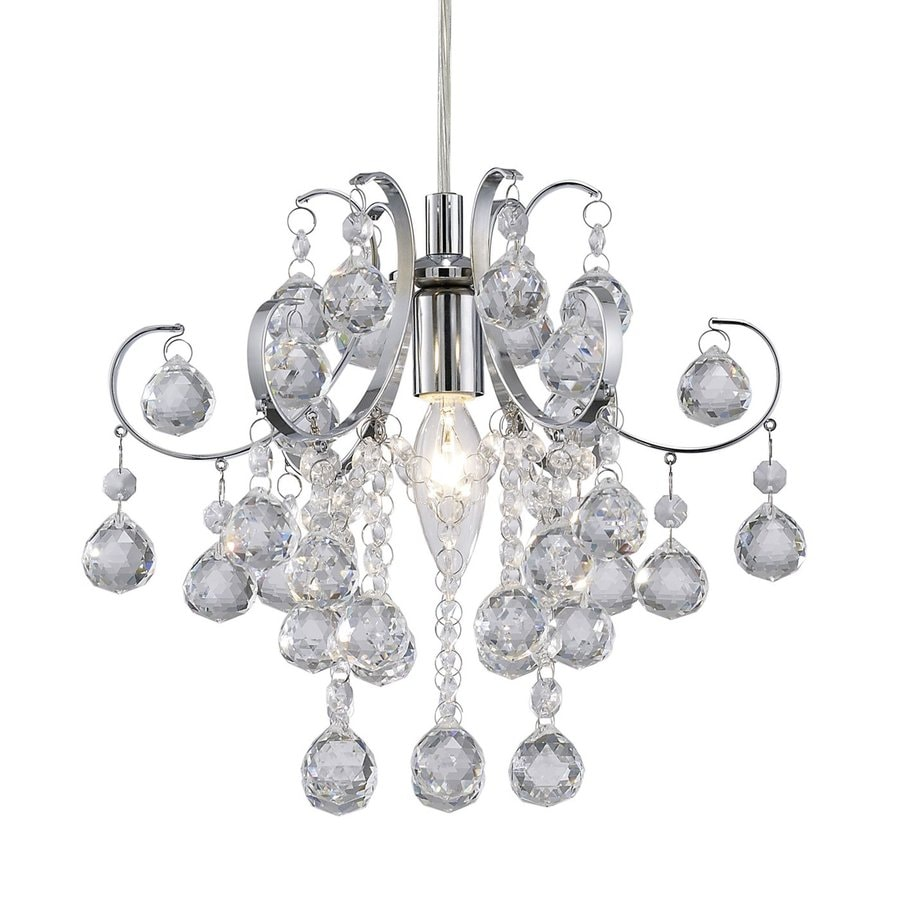 Canarm Tessa 10.75-in 1-Light Chrome Crystal Waterfall Chandelier