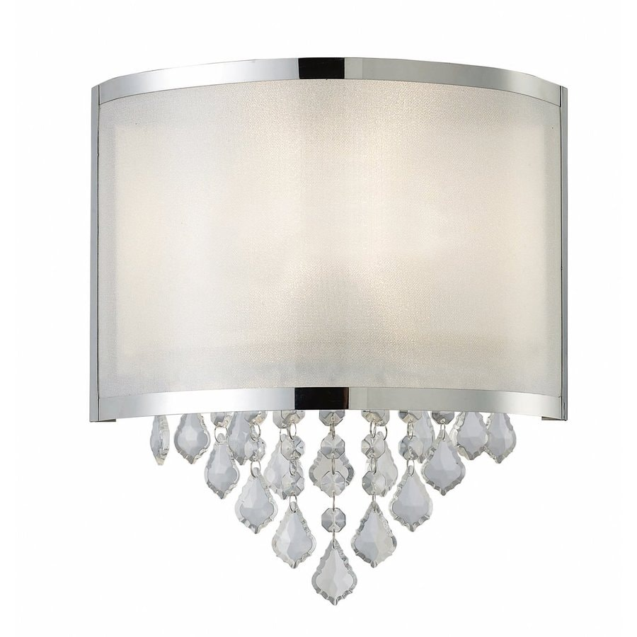 Canarm Reese 11.25-in W 1-Light Chrome Crystal Accent Pocket Wall Sconce