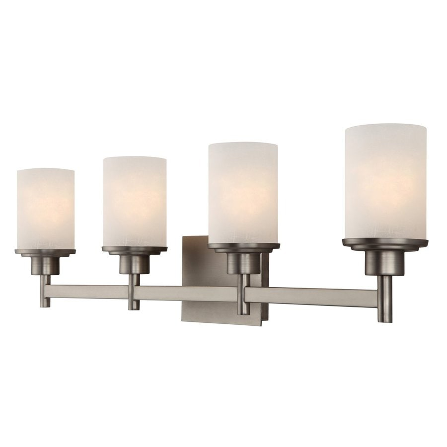 4 Light Brushed Nickel Vanity Lights : Shop Canarm Lyndi 4-Light 9.25-in Brushed Nickel Cylinder Vanity Light at Lowes.com