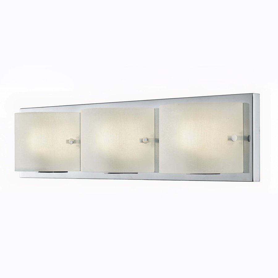 Canarm Rikki 3-Light 6-in Chrome Square Vanity Light