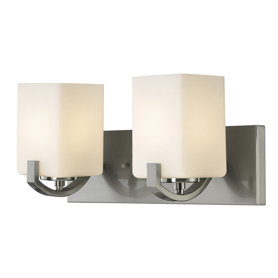 Polished Nickel Bathroom Vanity Light: Shop Canarm 2-Light Palmer Brushed Nickel Bathroom Vanity