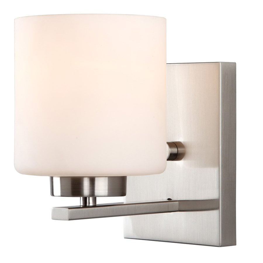 Shop Canarm Leigha 4.75-in W 1-Light Brushed Nickel Arm Wall Sconce at Lowes.com