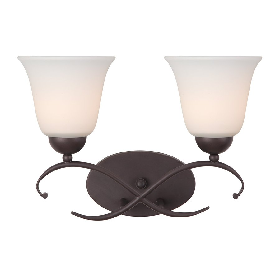 Canarm Lily 2-Light 10.5-in Oil Rubbed Bronze Bell Vanity Light