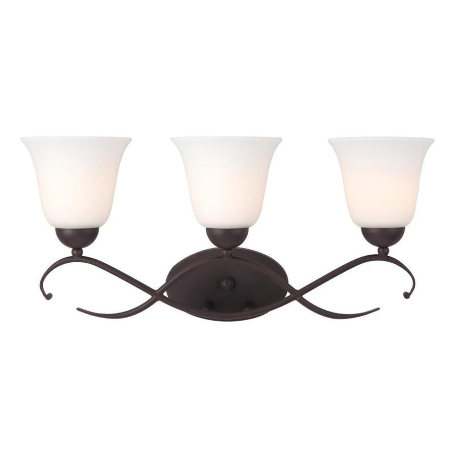 Canarm Lily 3-Light 10.5-in Oil Rubbed Bronze Bell Vanity Light