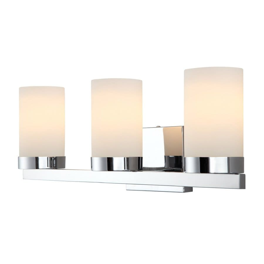 Canarm Milo 3 Light 8 in Chrome Cylinder Vanity Light. Shop Canarm Milo 3 Light 8 in Chrome Cylinder Vanity Light at
