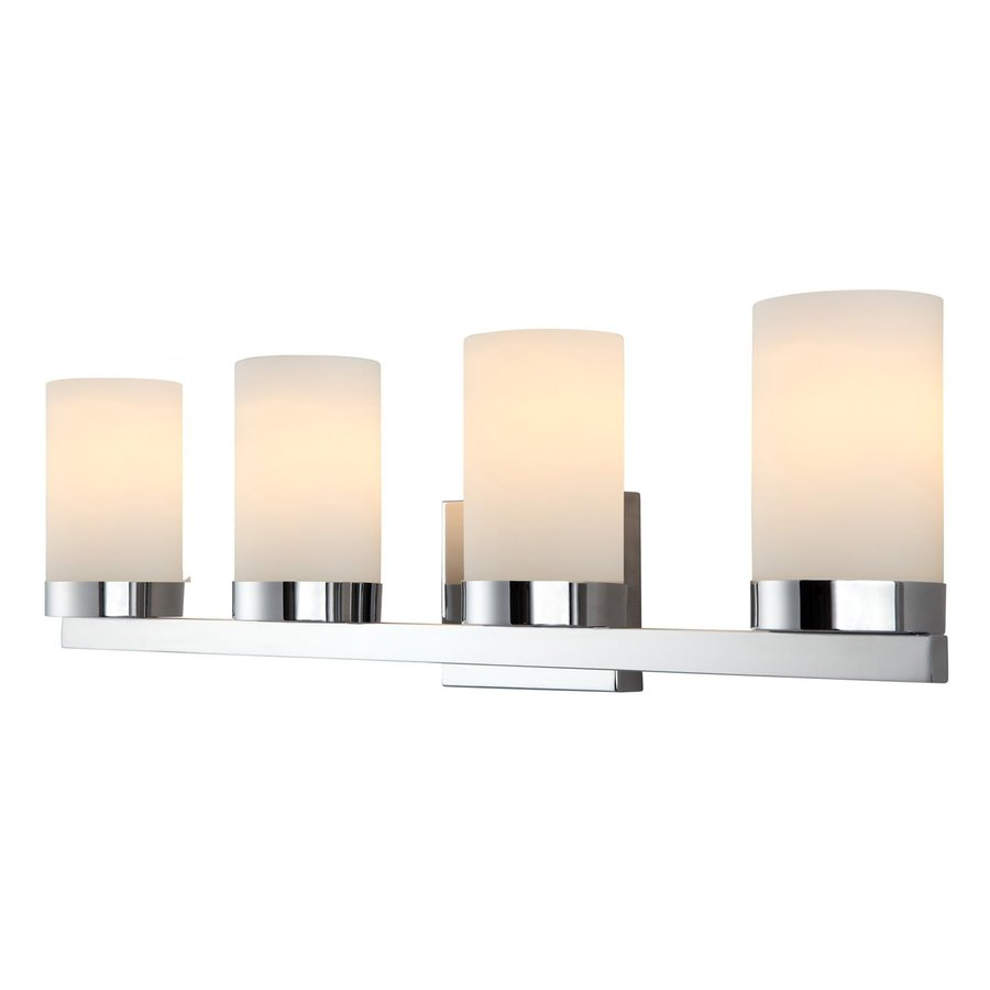 Canarm Milo 4-Light 8-in Chrome Cylinder Vanity Light