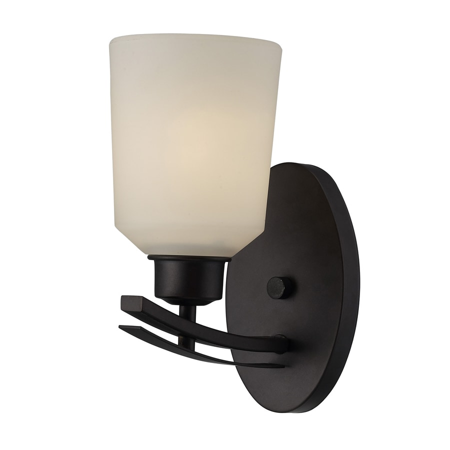Shop Canarm Quincy 10-in W 1-Light Oil Rubbed Bronze Arm Wall Sconce at Lowes.com