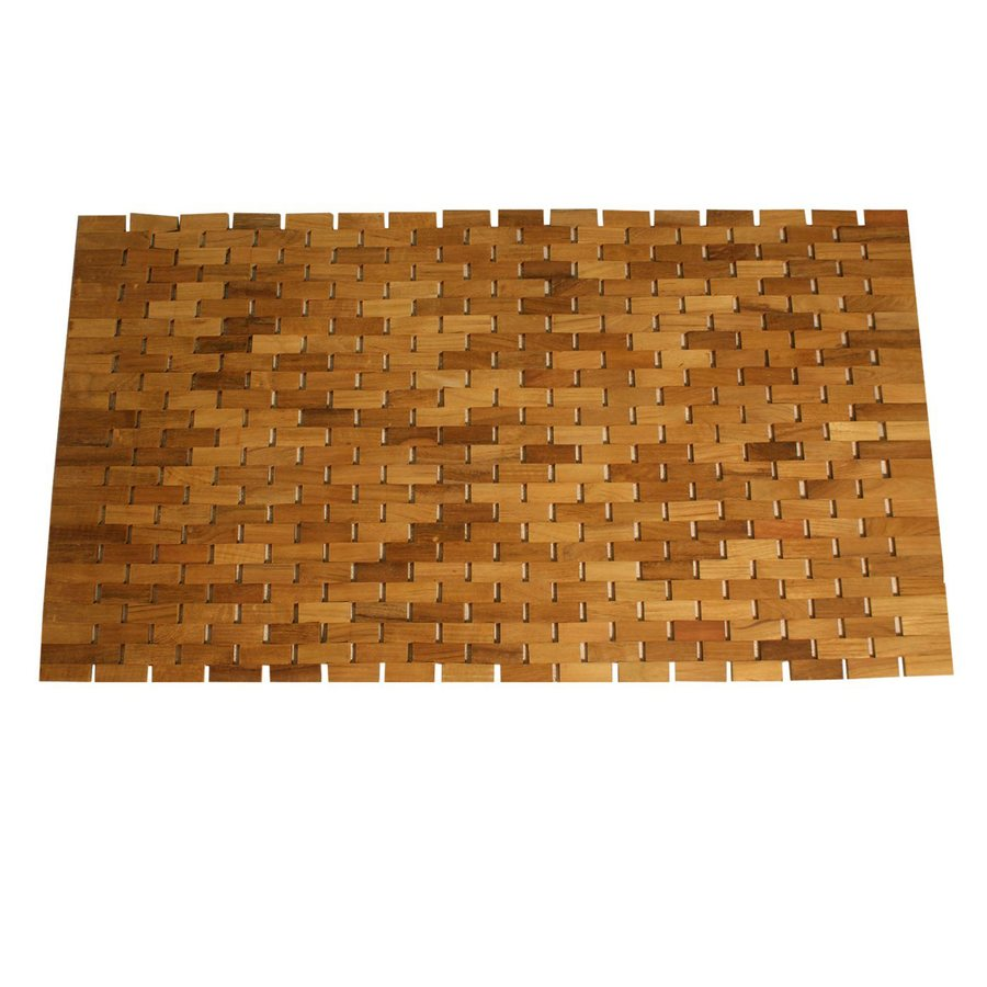Jewels of Java Teak Rectangular Door Mat (Common: 19-in x 34-in; Actual: 19-in x 34-in)