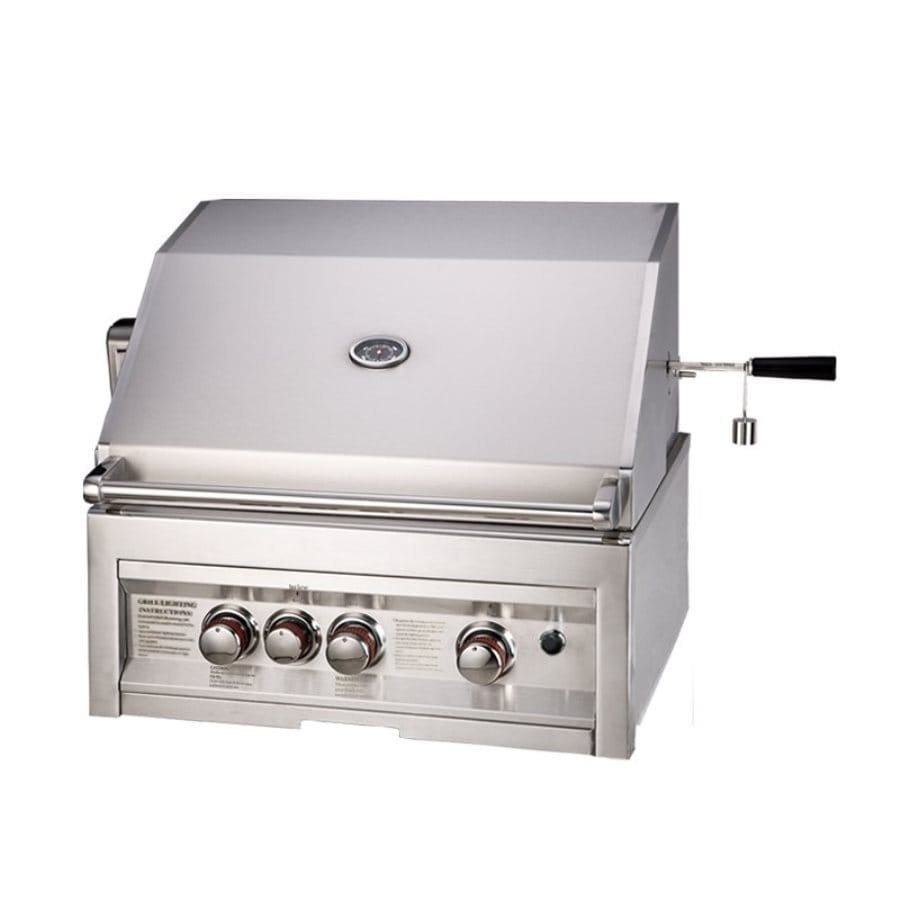 Sunstone Stainless Steel 3-Burner Natural Gas Grill with Integrated Smoker Box