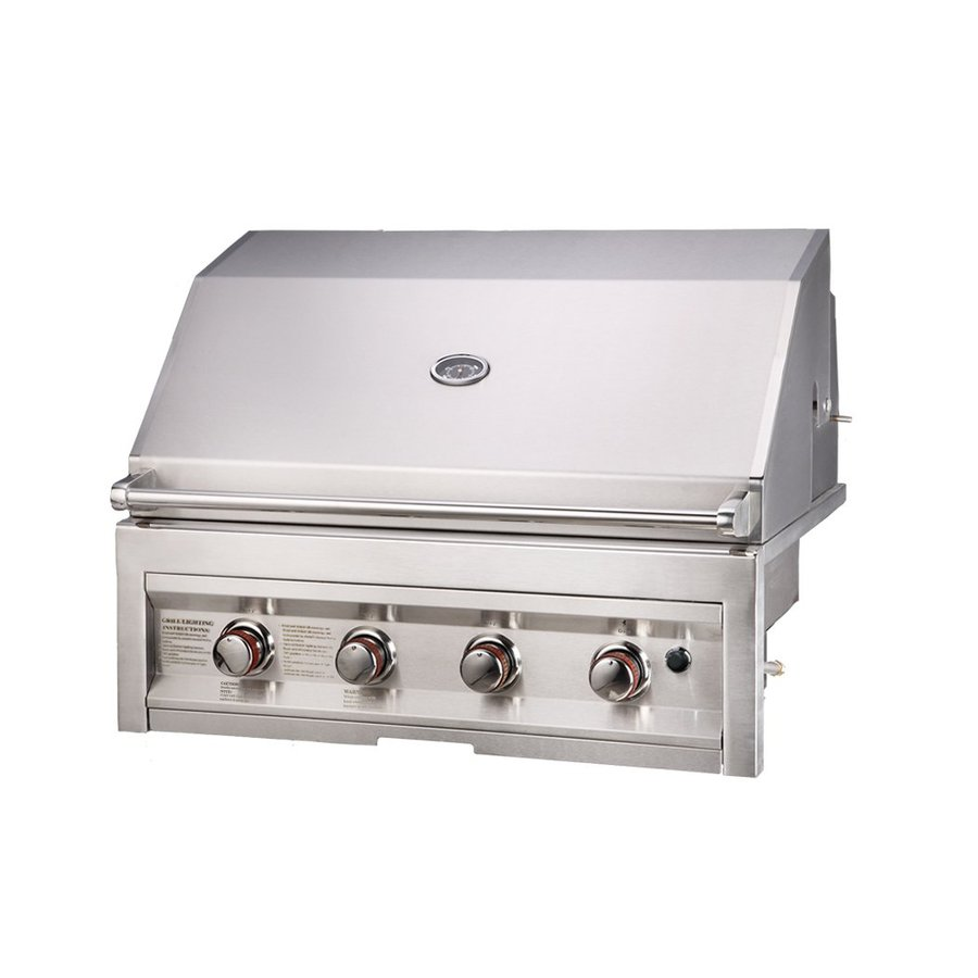 Sunstone Stainless Steel 4-Burner Liquid Propane Gas Grill Integrated Smoker Box