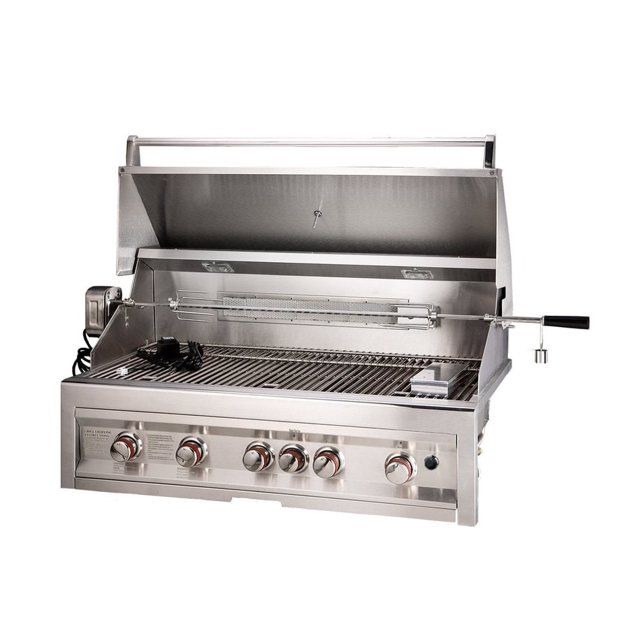 Sunstone Stainless Steel 5-Burner Natural Grill Integrated Smoker Box