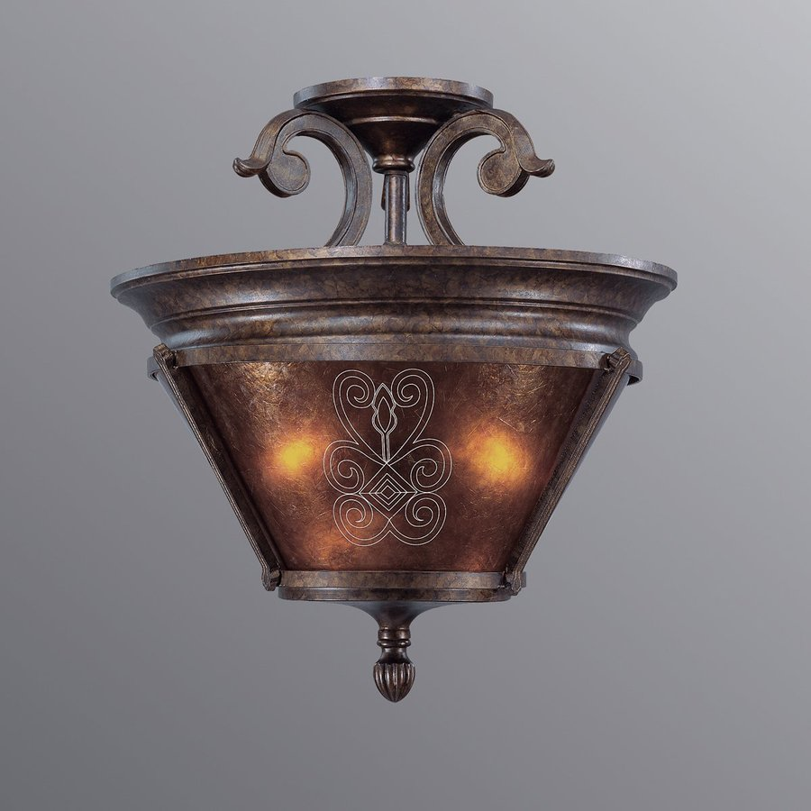 Eurofase Casanova 18-in W Antique Bronze Textured Semi-Flush Mount Light