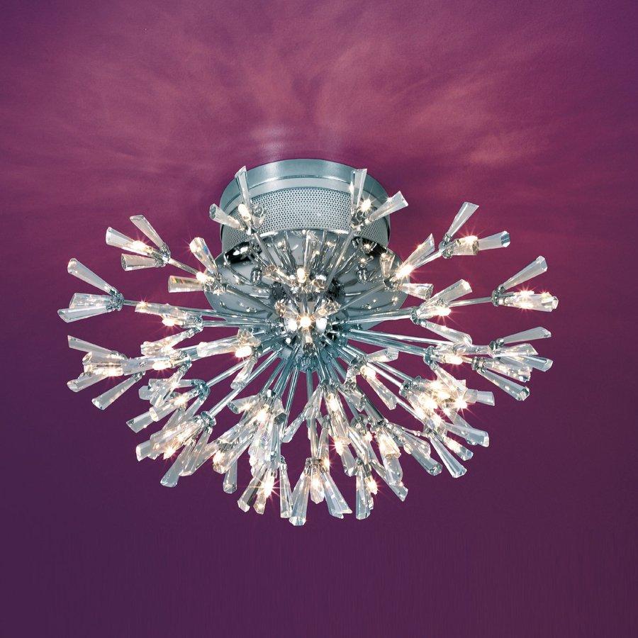Eurofase Lenka 22.75-in W Chrome Shades Crystal Semi-Flush Mount Light
