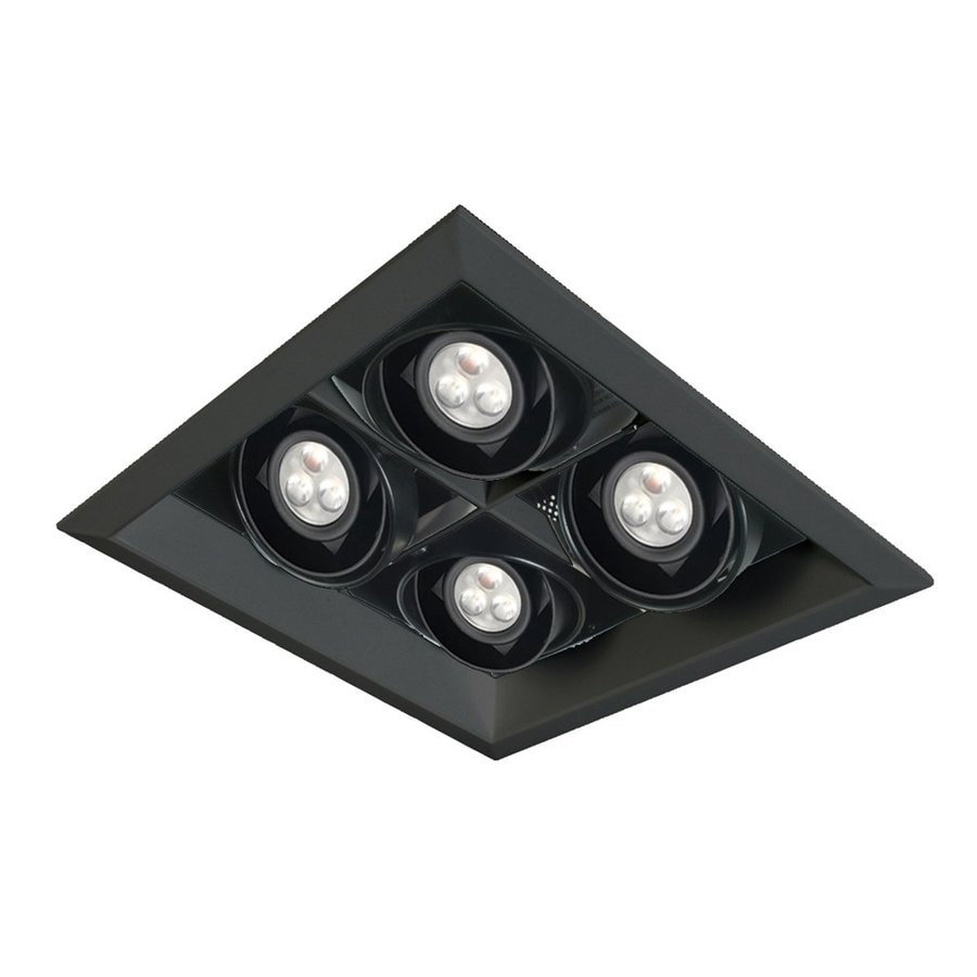 Eurofase Black Integrated LED Remodel and New Construction Recessed Light Kit
