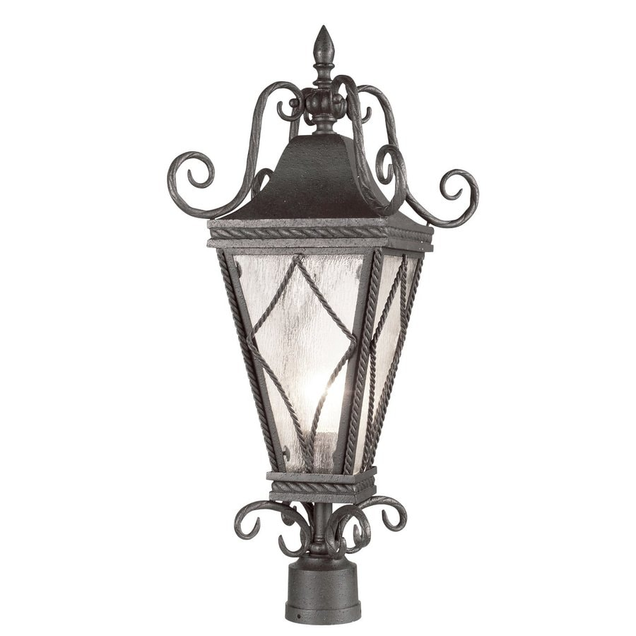 Eurofase Mavis 25-in H Textured Charcoal Post Light