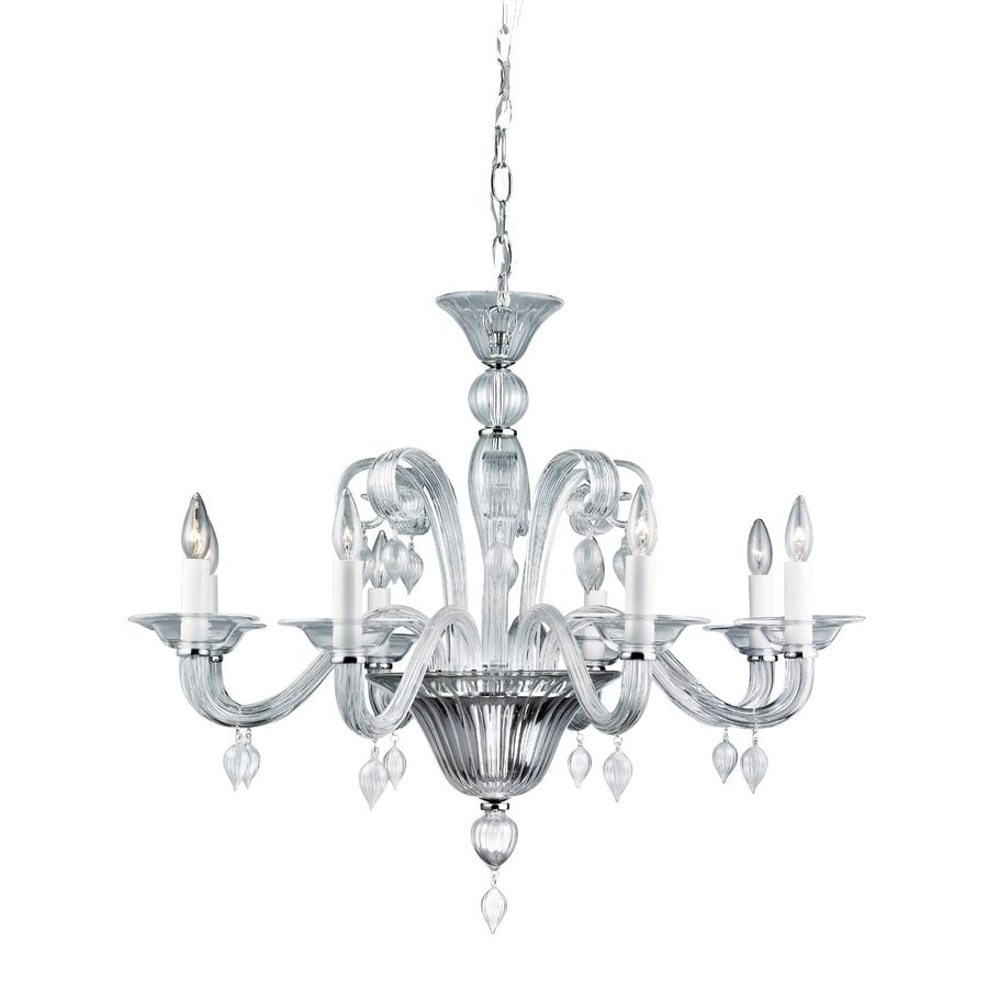 Eurofase Ciatura 34.625-in 8-Light Chrome Vintage Candle Chandelier
